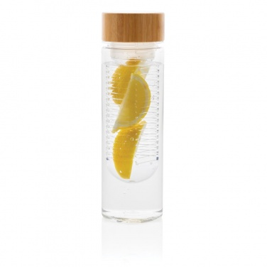 Drinking bottle with infuser, transparent