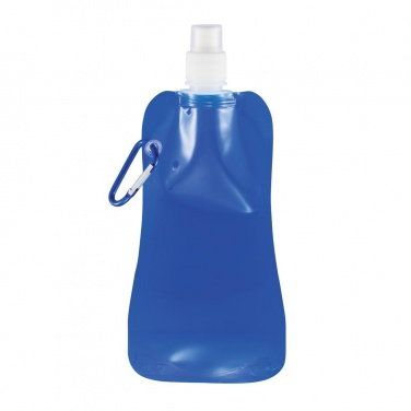 Foldable drinking bottle, blue